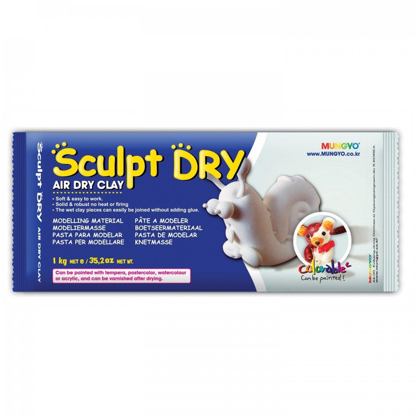 Samotvrdnúca hlina Sculpt Dry 1 kg biela  bd2d3b657fe