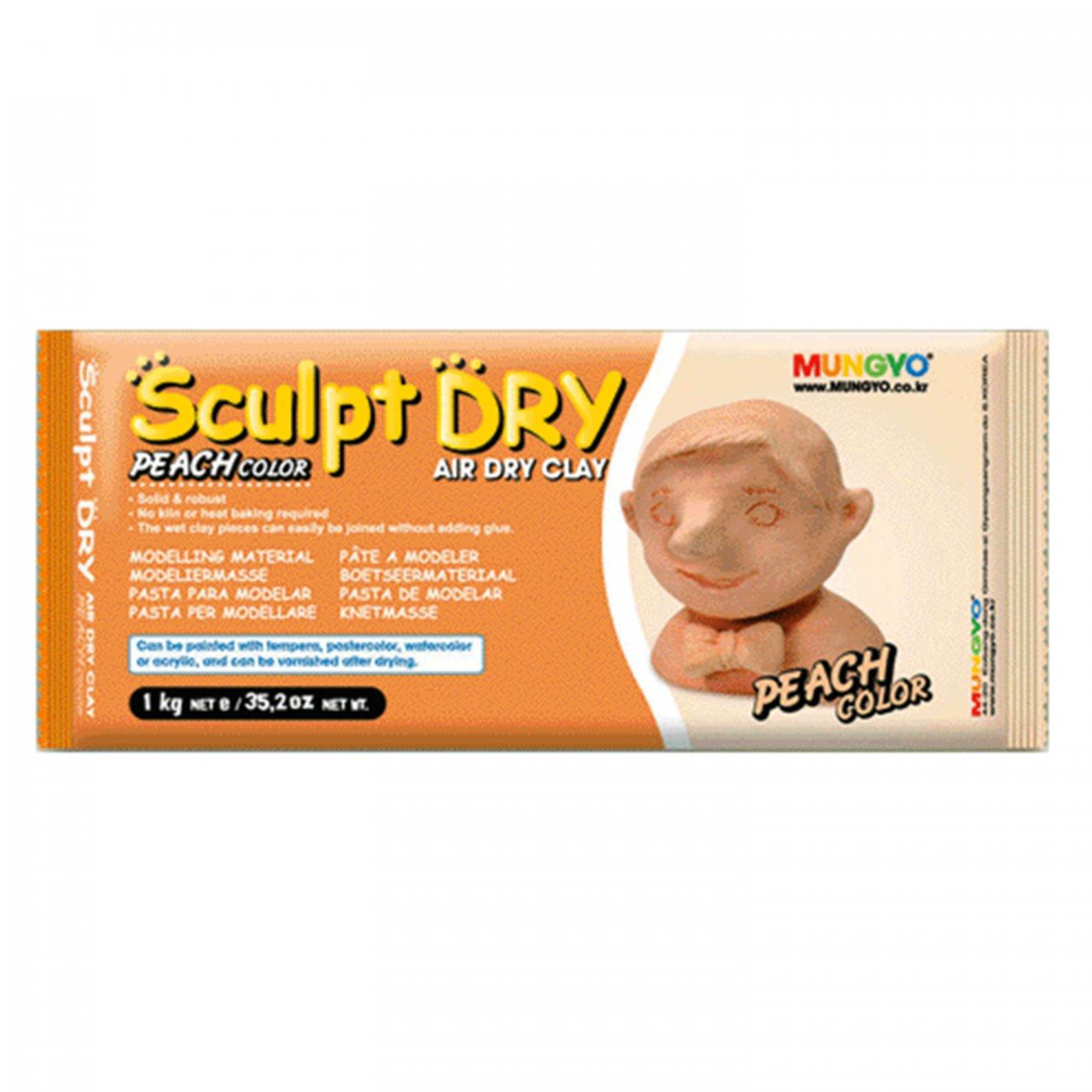 Samotvrdnúca hlina Sculpt Dry 1 kg broskyňová  8e30a922bae