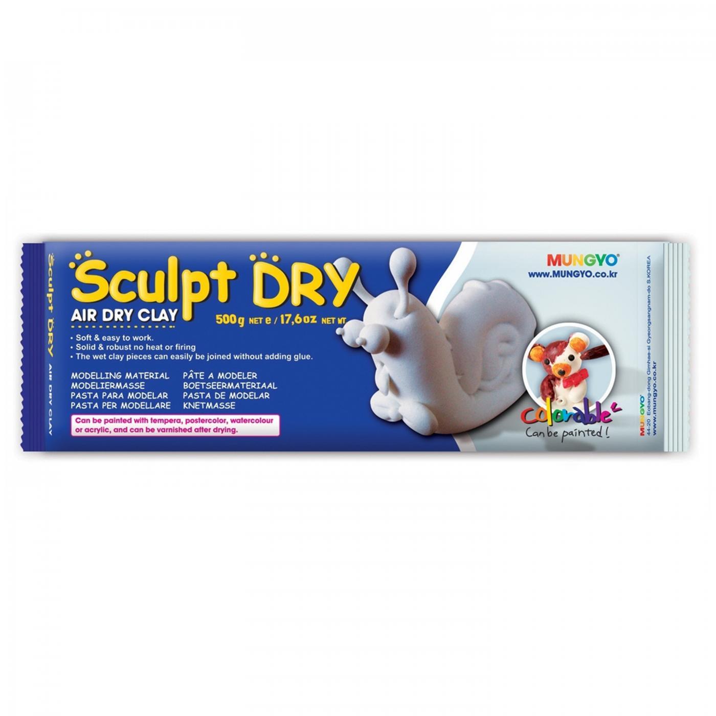 Samotvrdnúca hlina Sculpt Dry 500 g biela  583cdc7846e