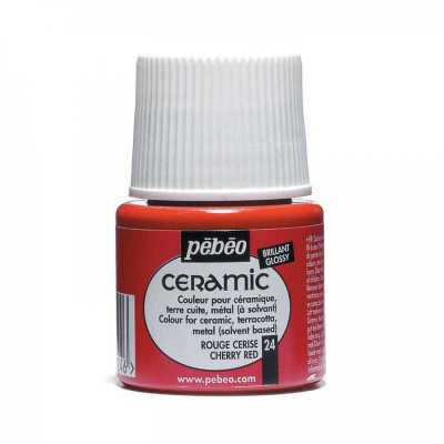 Ceramic 45 ml, 24 Cherry red