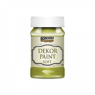 Dekor Paint Soft 100 ml, žltozelená