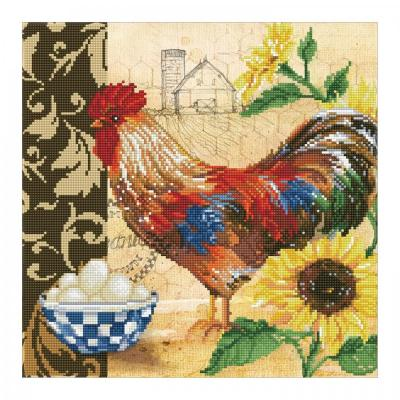 Diamond dotz, Country Rooster, 41 x 41 cm