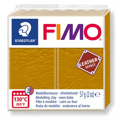 FIMO Leather effect 57 g, 179 oker