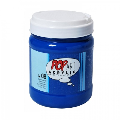 POP ART Acrylic 700 ml, 08 Primary Cyan