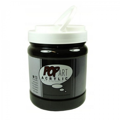 POP ART Acrylic 700 ml, 13 Mars black