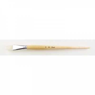 Štetec t-brush 6002, white bristle, plochý n° 12