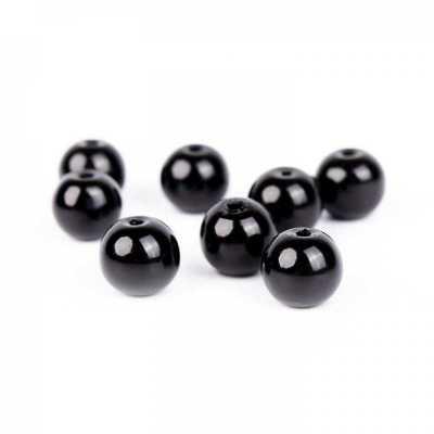 Voskované perly 10 mm čierna 10 ks 1259f0cf0e9