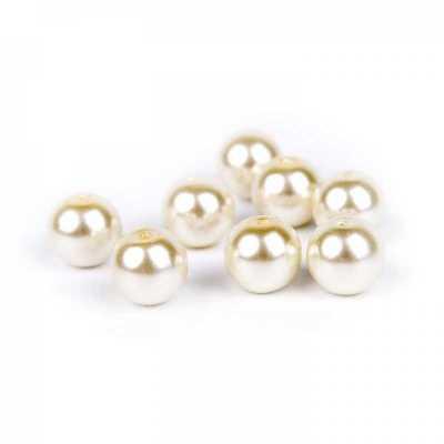Voskované perly 10 mm slonovinová 10 ks e6f15214a6f
